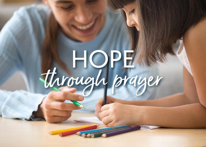 Hope for moms and kids through prayer