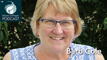 Barb Cole helping moms connect with prayer groups in the Mid Atlantic USA
