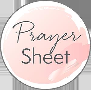 Prayer Sheet Moms in Prayer