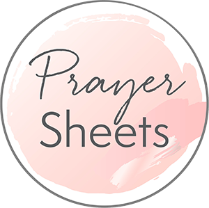 how can I pray for my kids - prayer sheets