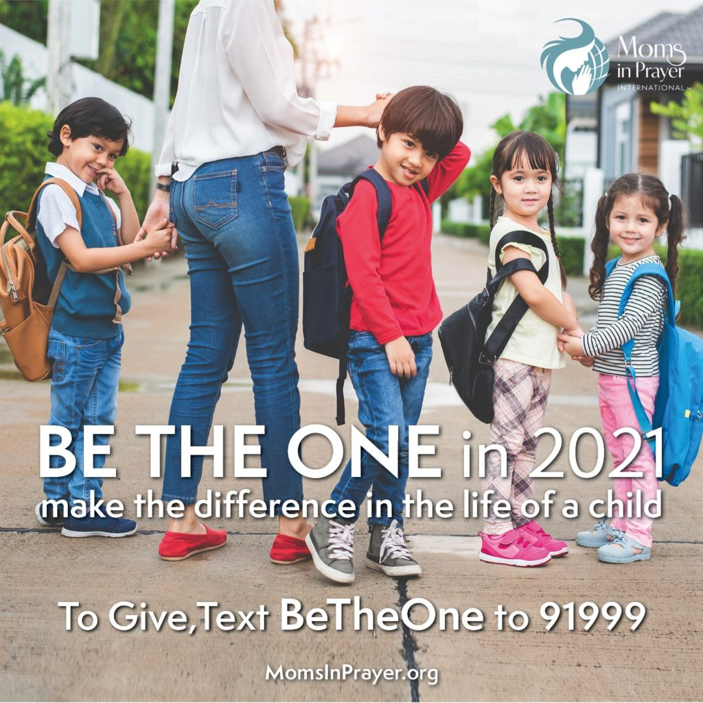 Make a difference in the life of a child by giving to Moms in Prayer